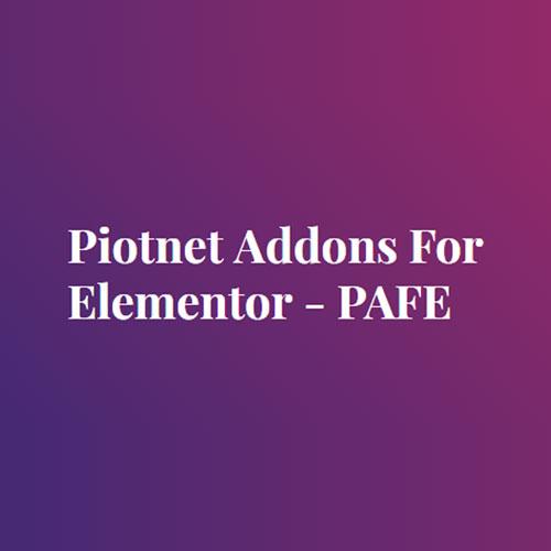 Piotnet Addons For Elementor Pro Plugin