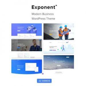 Exponent Modern Multi-Purpose Business WordPress theme