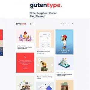 Gutentype 100% Gutenberg WordPress Theme for Modern Blog
