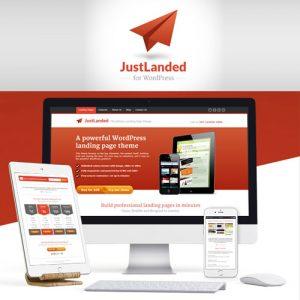 JustLanded WordPress Landing Page