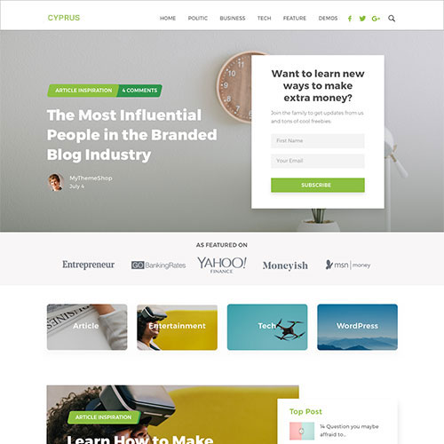 MyThemeShop Cyprus WordPress Theme