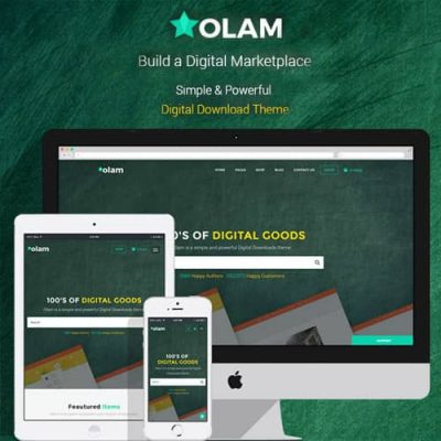 Olam – WordPress Easy Digital Downloads Theme