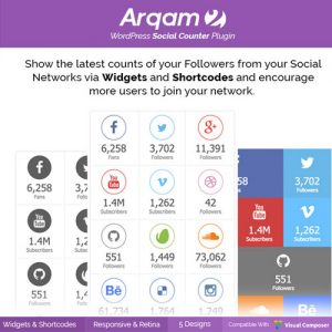 Social Counter Plugin for WordPress Arqam