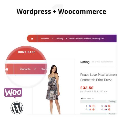 WordPress WooCommerce Custom Breadcrumbs Plugin