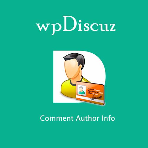 wpDiscuz Comment Author Info