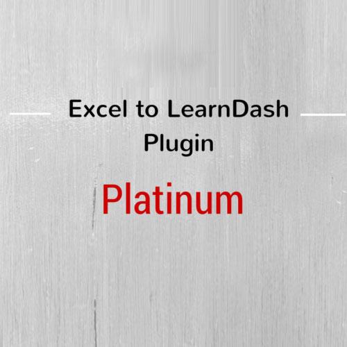 Excel to LearnDash Plugin – Platinum Edition