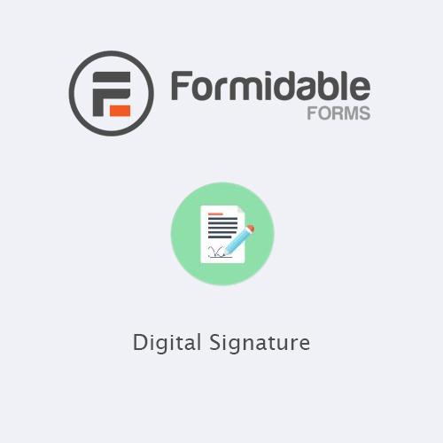 Formidable Forms – Digital Signature