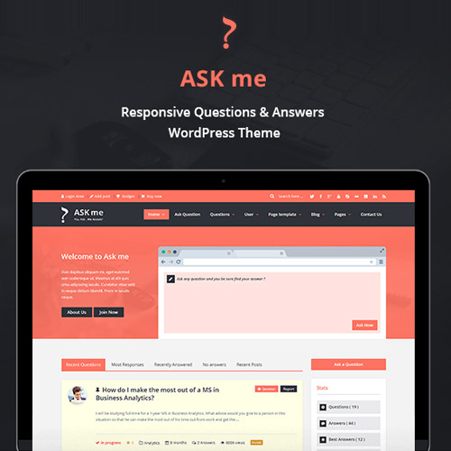 Ask Me – Responsive Questions & Answers WordPress
