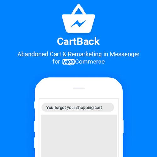 CartBack – WooCommerce Abandoned Cart & Remarketing in Facebook Messenger