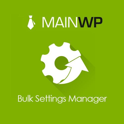 MainWP Bulk Settings Manager