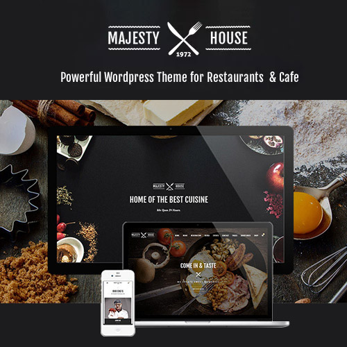 Majesty – Restaurant WooCommerce WordPress Theme