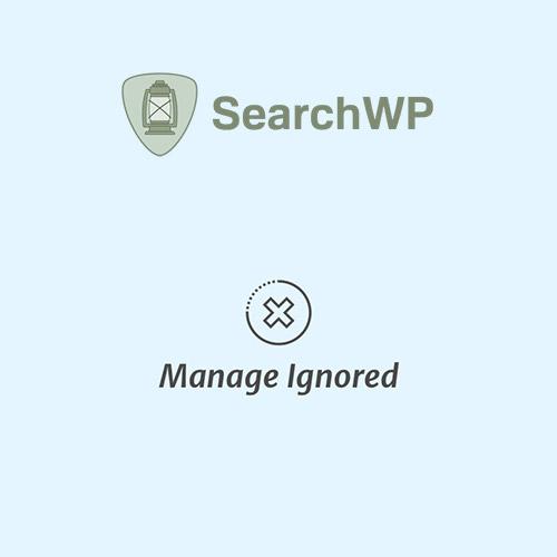 SearchWP Manage Ignored