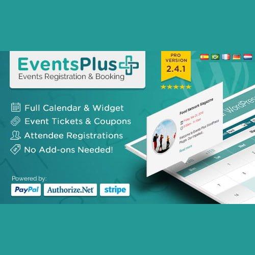 WP EventsPlus – Events Calendar Registration & Booking