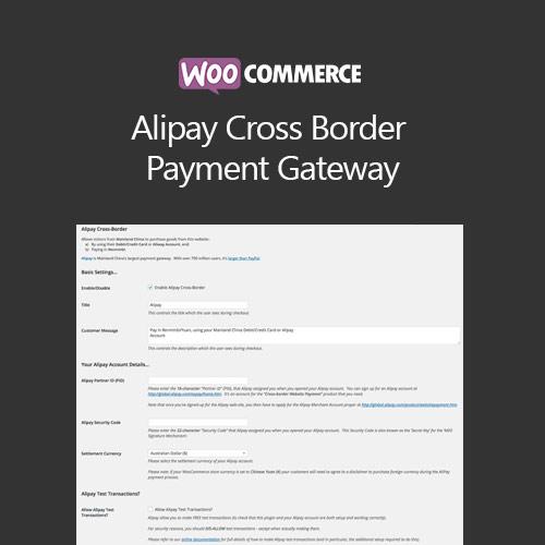 WooCommerce Alipay Cross Border Payment Gateway