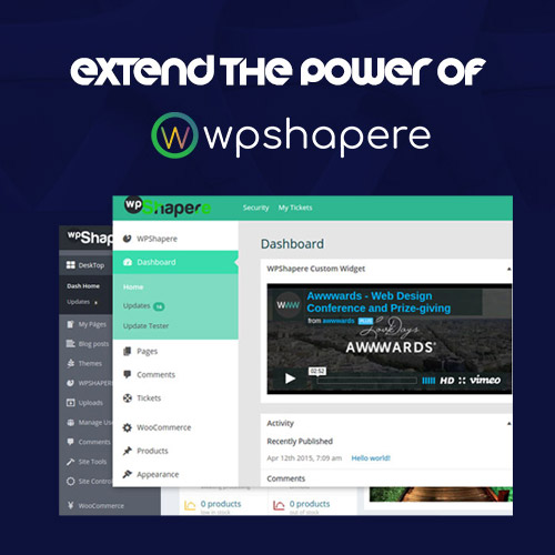 WordPress Admin Theme – WPShapere
